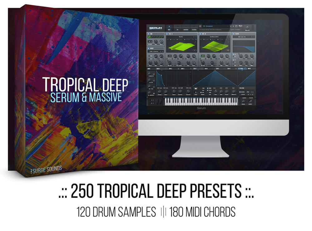 KYGO, Thomas Jack, EDX Tropical Deep House Xfer Serum NI Massive Presets