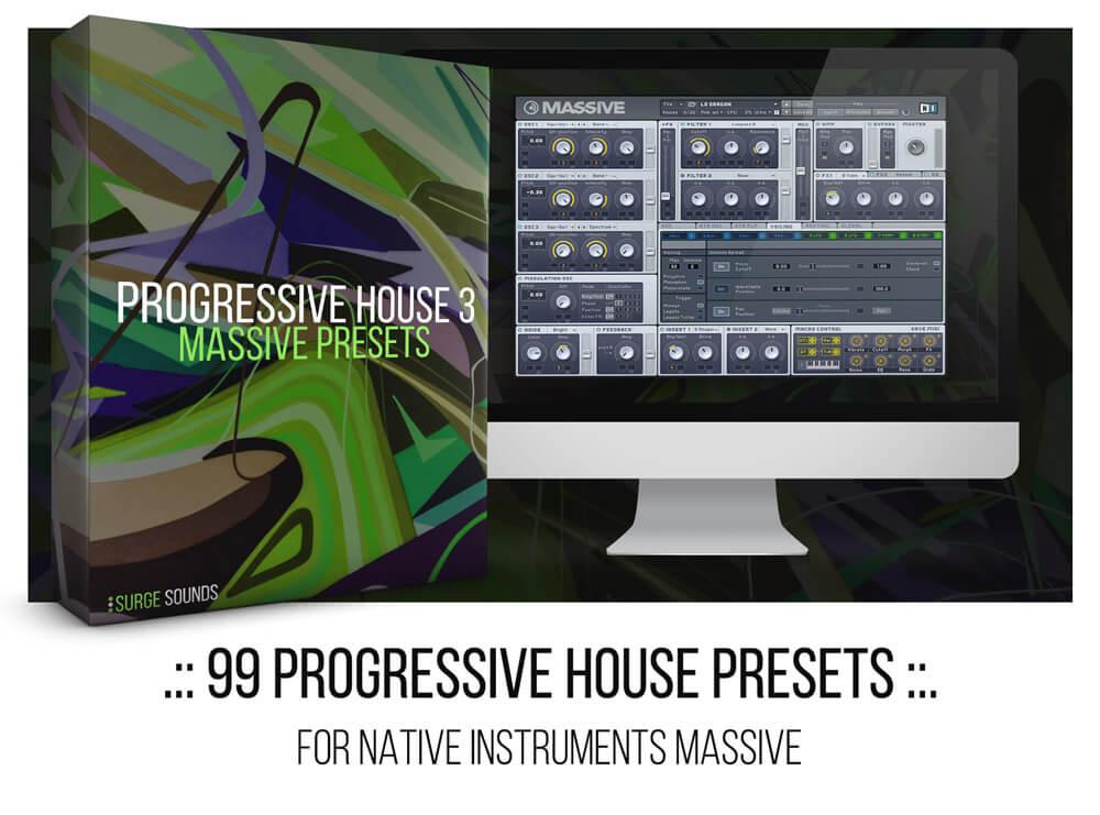 Martin Garrix, Matisse & Sadko, Hardwell Progressive House NI Massive presets
