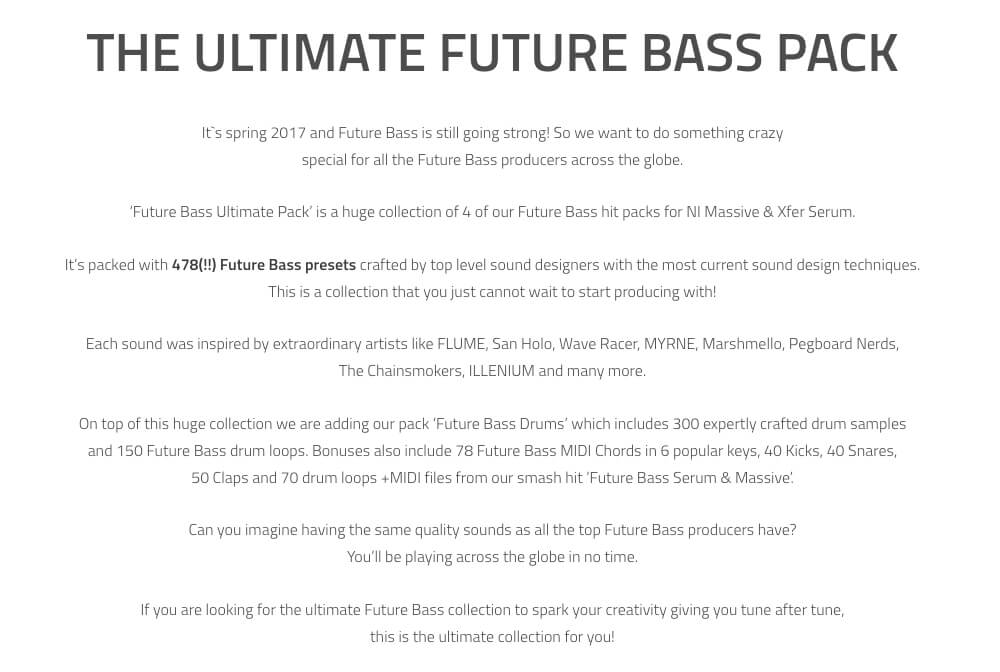 Future Bass Ultimate Pack 400 Presets Synthmob
